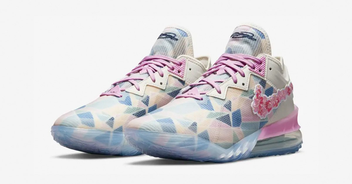 Nike LeBron 18 Low Cherry Blossom CV7562-101