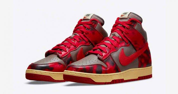 Nike Dunk High 1985 Red Acid Wash DD9404-600