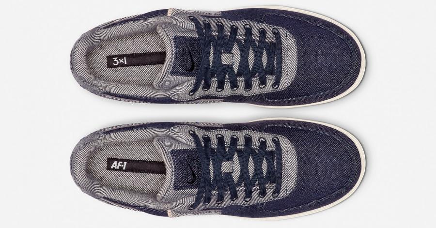 3x1 x Nike Air Force 1 Low Raw Indigo Denim