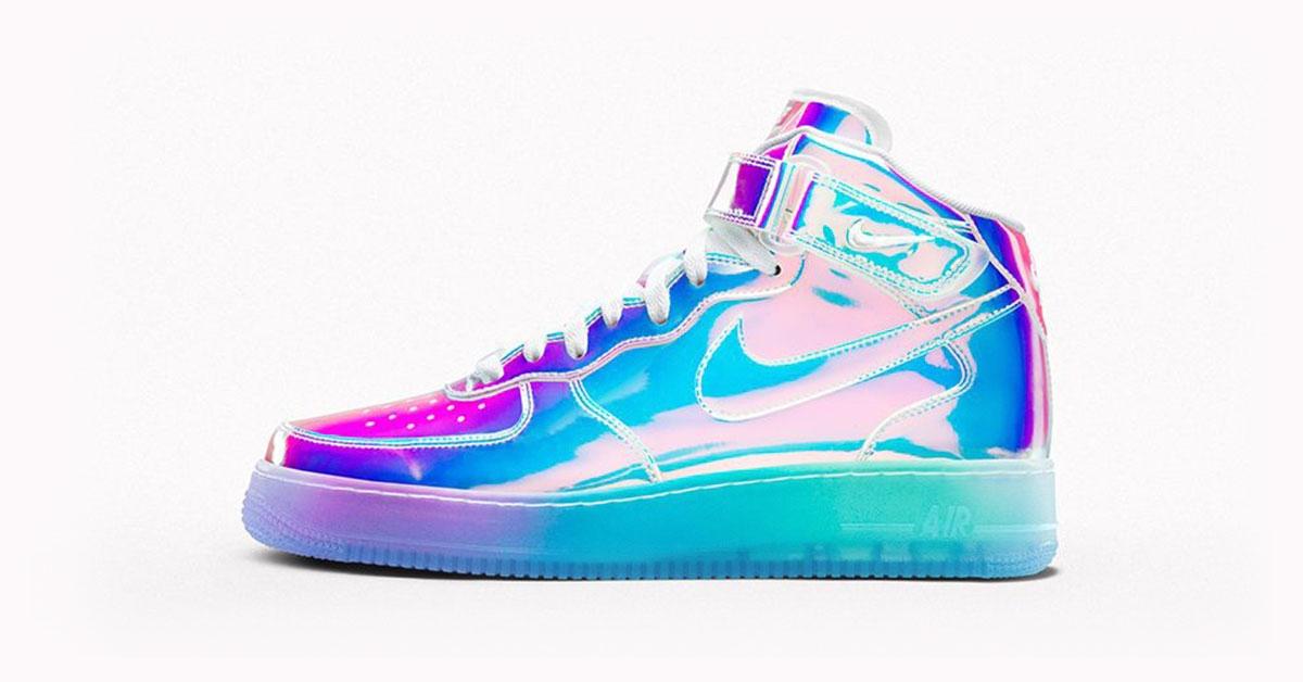 Nike Air Force 1 iD Irisdent Cool Sneakers