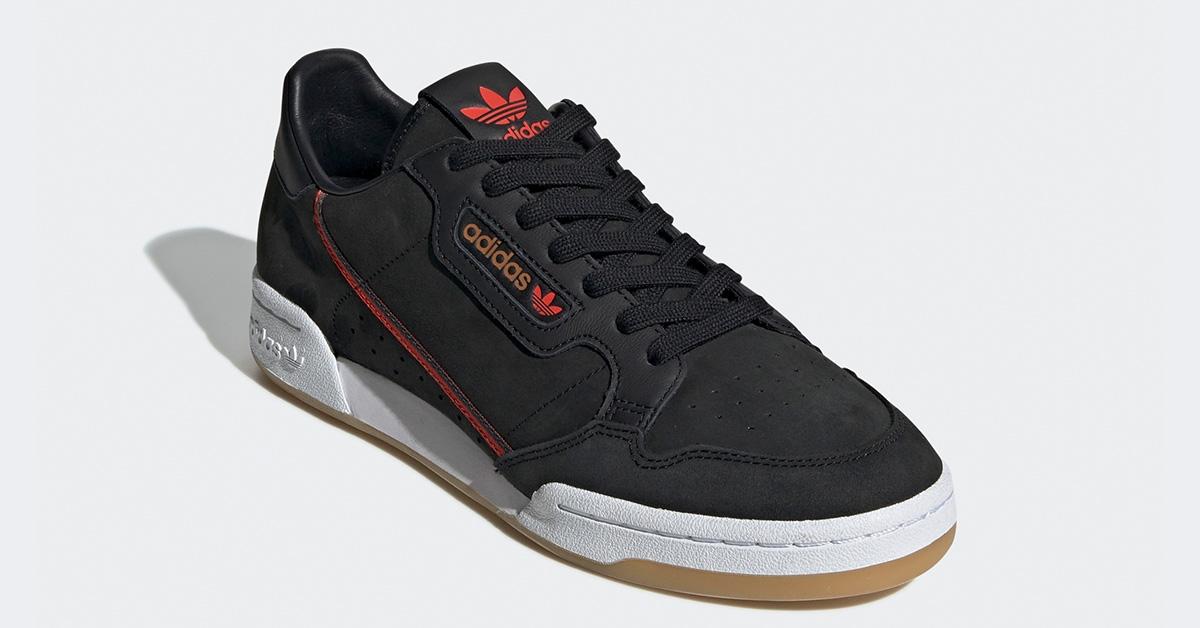 Adidas Continental 80 TFL Sort Rød EE7270