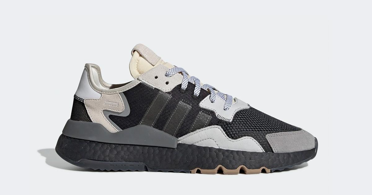 Adidas Nite Jogger Sort Hvid BD7933