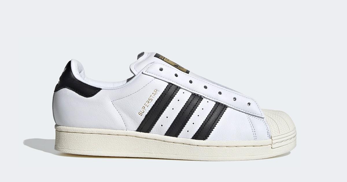 Adidas Superstar Laceless Hvid Sort FV3017