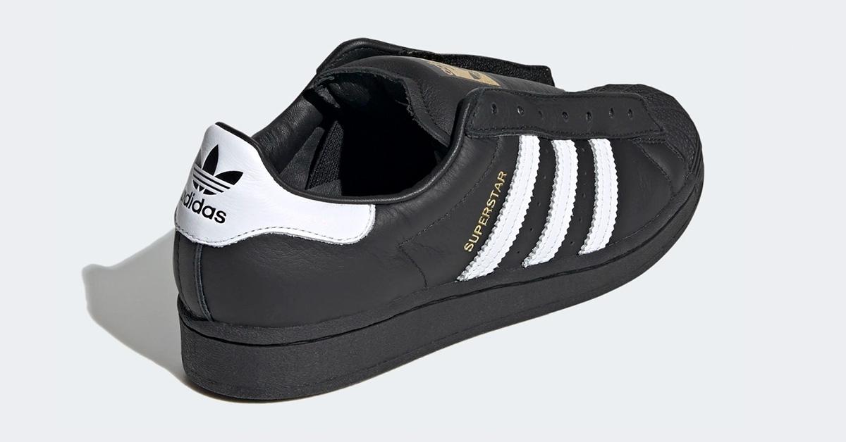 Adidas Superstar Laceless Sort Hvid FV3018