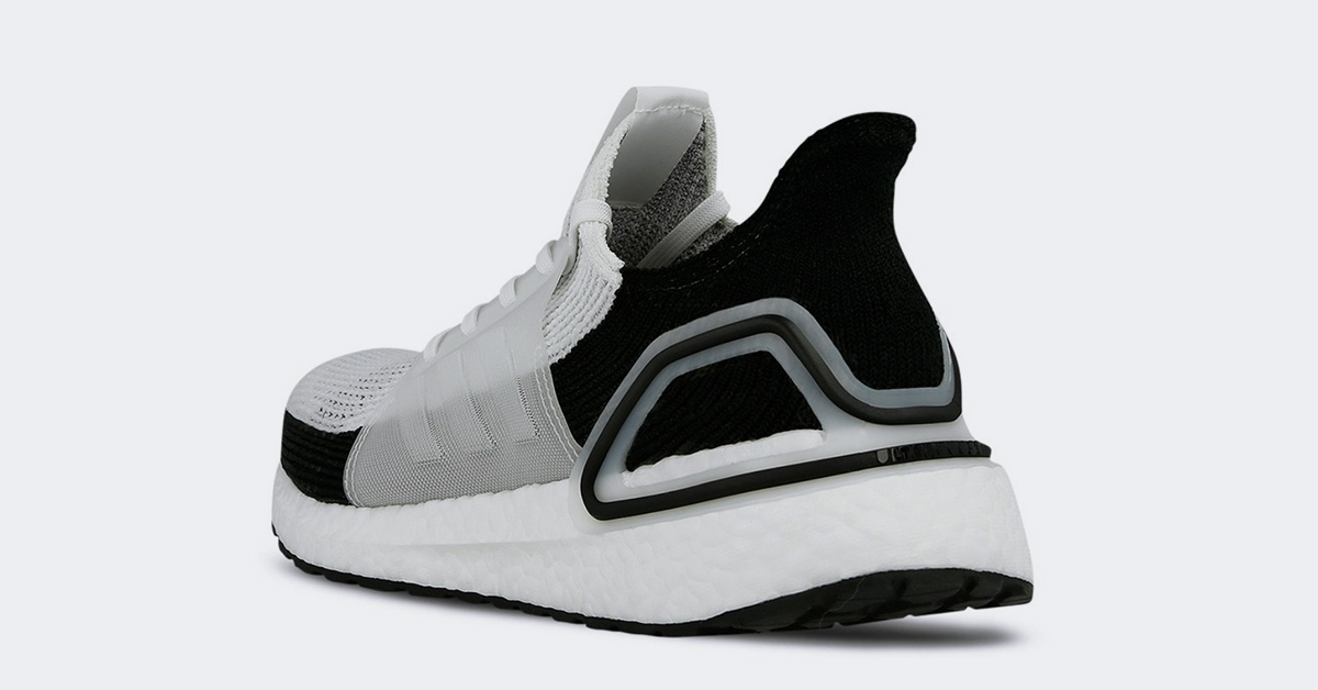 Adidas Ultra Boost 19 Hvid Sort B37707