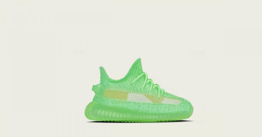 292dcc7d Adidas Yeezy Boost 350 V2 Glow til Børn - Cool Sneakers