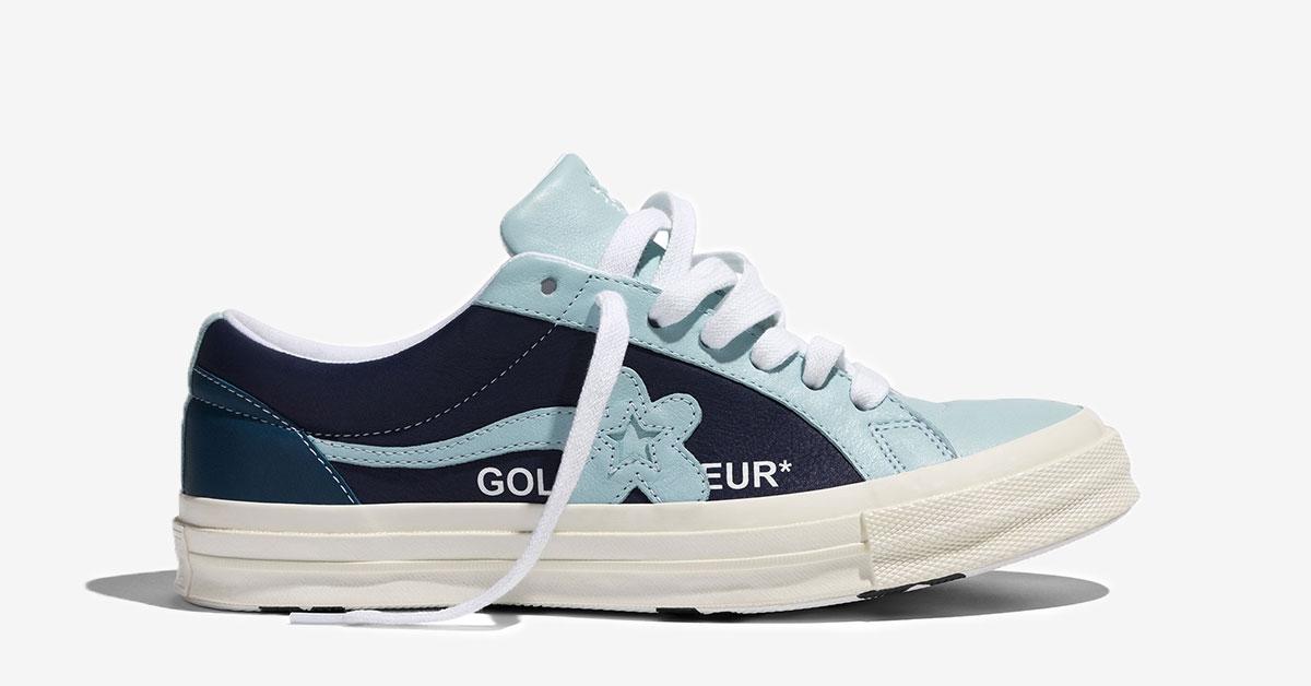 Converse x Golf Le Fleur Lyseblå