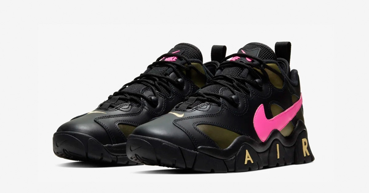 Nike Air Barrage Low Sort Pink