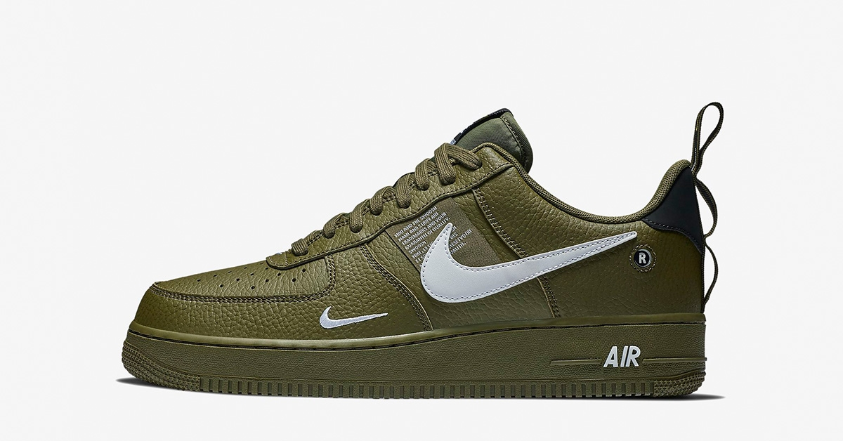 nike air Force 1 oliven sort