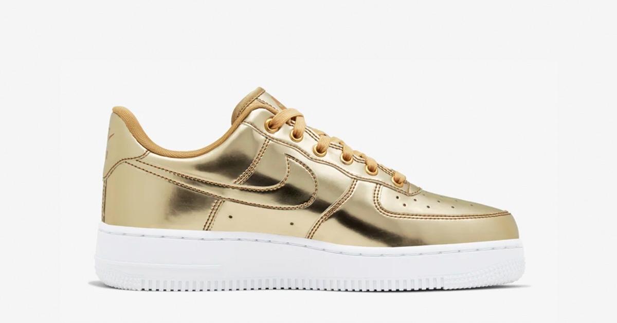 Nike Air Force 1 Low Guld til kvinder Cool Sneakers