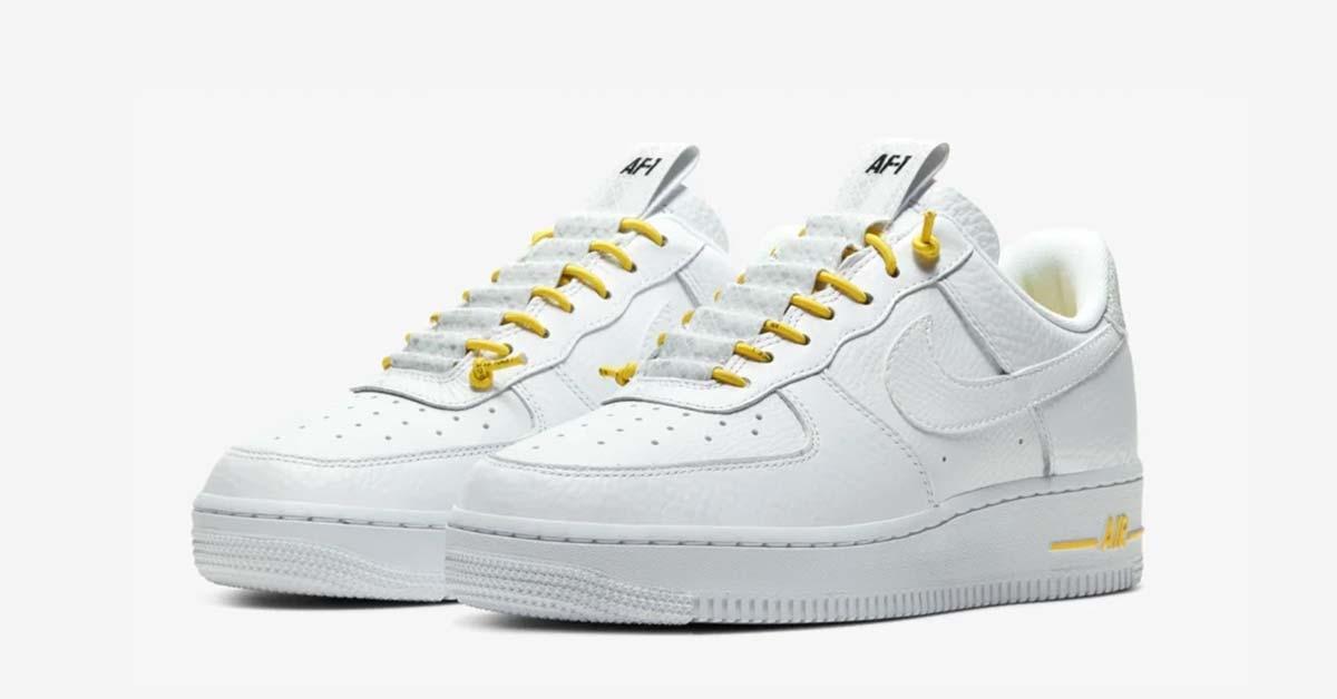 Nike Air Force 1 Lux Hvid Gul 898889-104