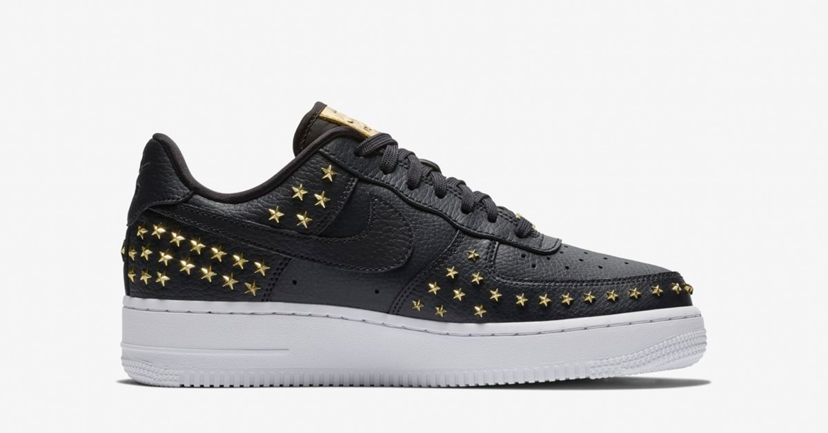 Nike Air Force 1 XX Star Studded til kvinder sort