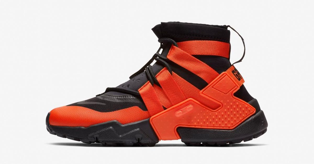 Nike Air Huarache Gripp Sort Orange
