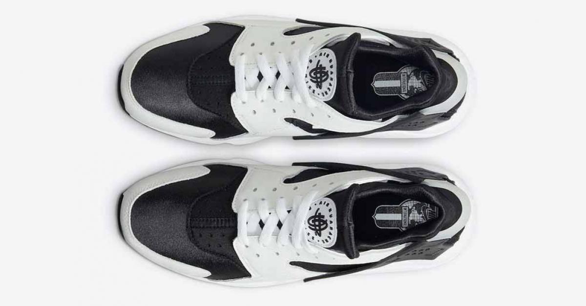 Nike Air Huarache Sort Hvid DD1068-001