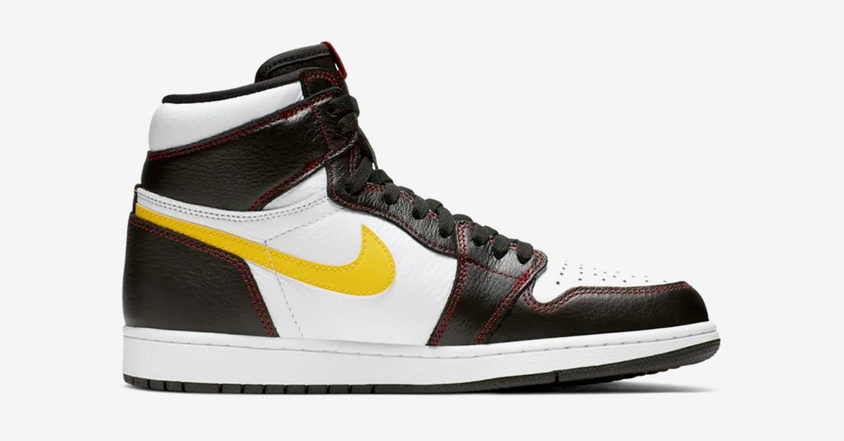 Nike Air Jordan 1 Defiant gul swoosh