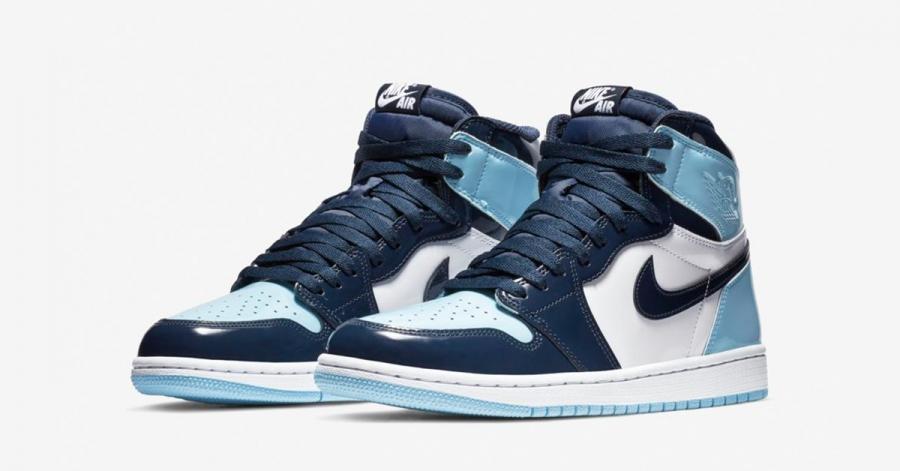 Nike Air Jordan 1 High Lyseblå til Kvinder 0