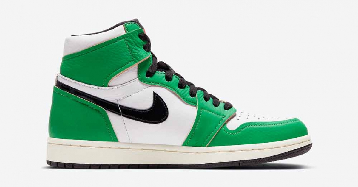Nike Air Jordan 1 High OG Lucky Green til kvinder DB4612-300