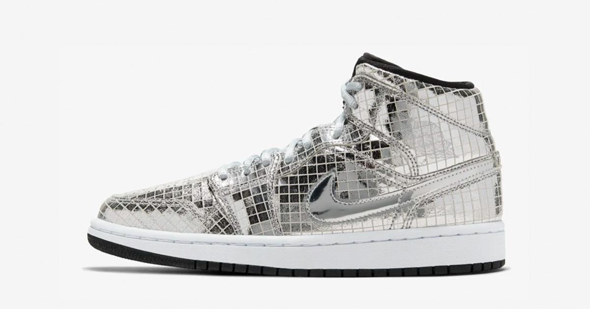 Nike Air Jordan 1 Mid Sølv