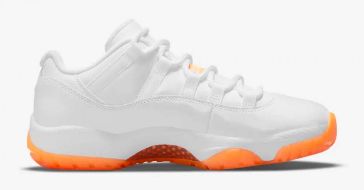 Nike Air Jordan 11 Low Hvid Orange AH7860-139
