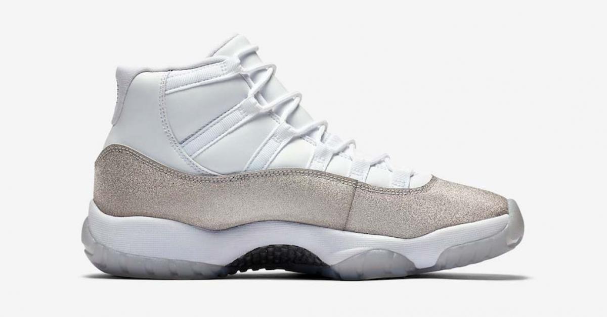Nike Air Jordan 11 Metallic Silver til kvinder AR0715-100