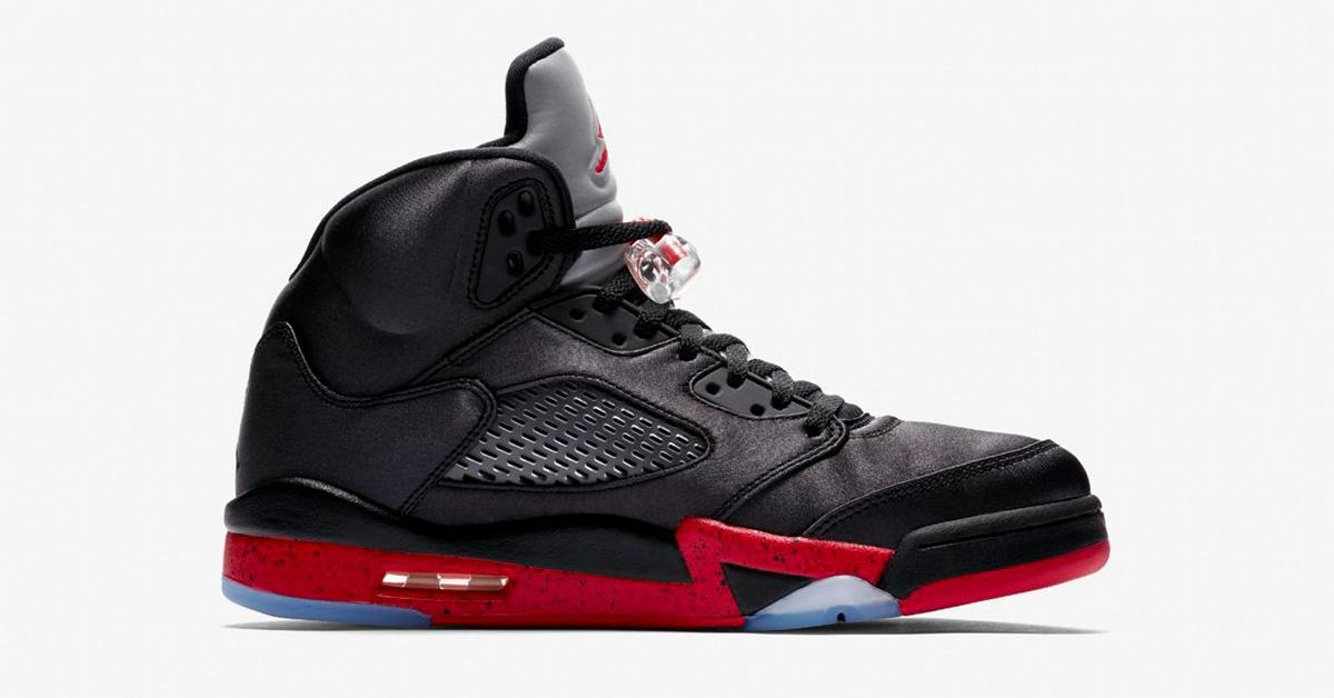 Nike Air Jordan 5 Black University Red