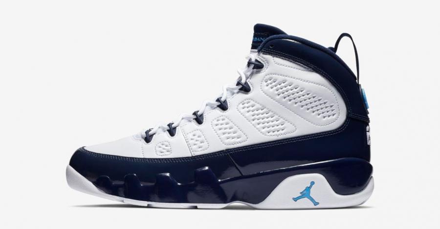 Nike Air Jordan 9 Hvid Navy 302370-145