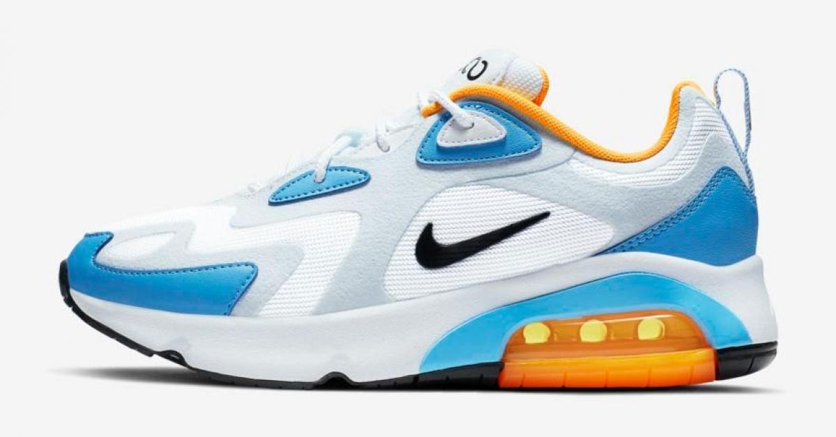 Nike Air Max 200 Lyseblå Gul til Kvinder Cool Sneakers