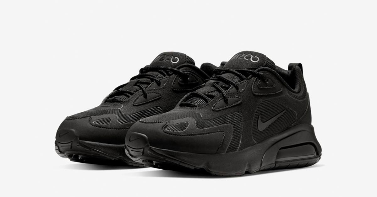 Nike Air Max 200 Triple Black AQ2568-003