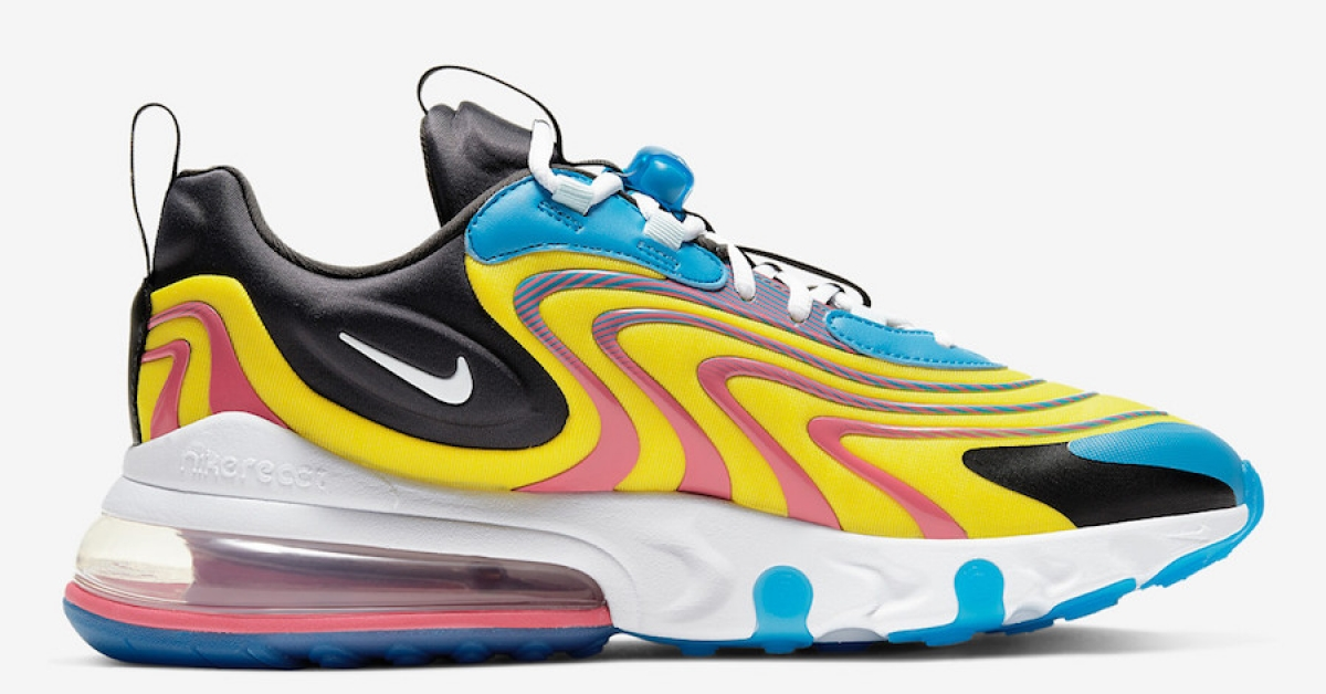 Nike Air Max 270 React Engineered Gul Blå CD0113-400