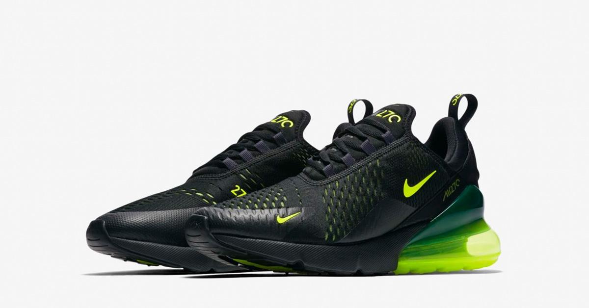Nike Air Max 270 Sort Volt