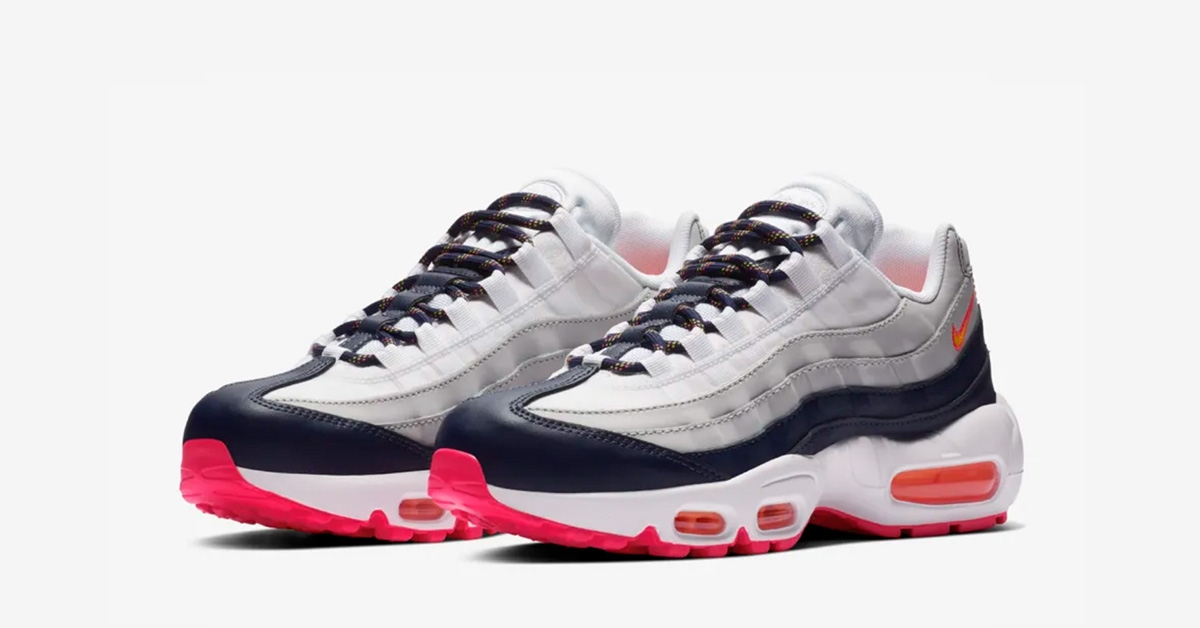 Now Available Nike Air Max 95 Midnight Navy Laser Orange