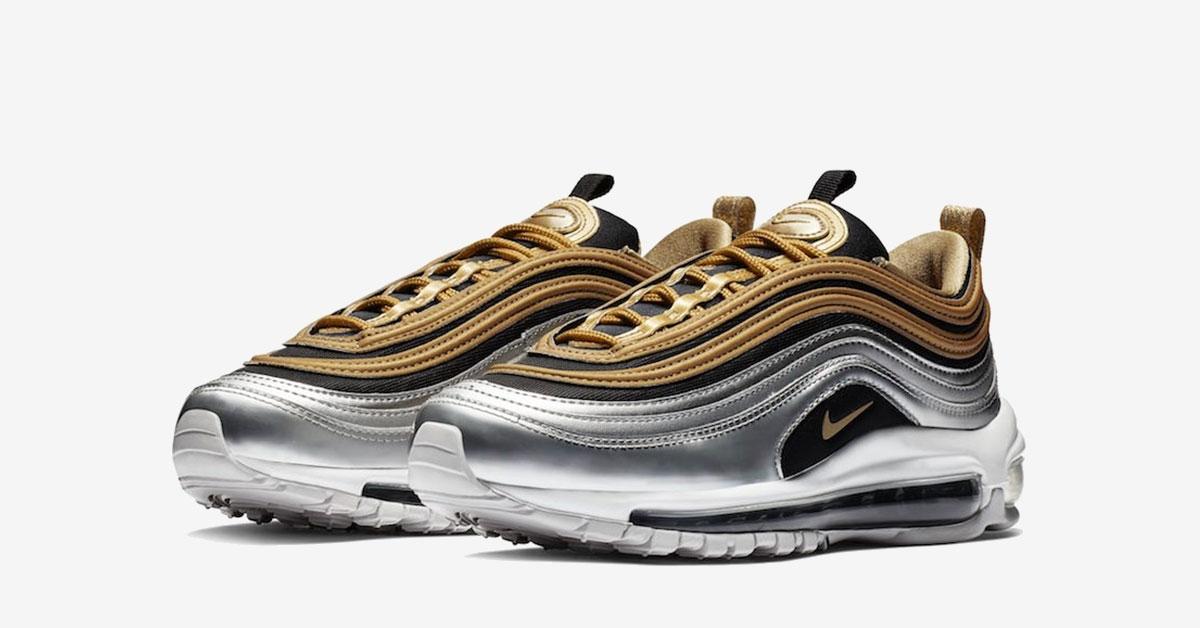 Nike Air Max 97 Guld Sølv AQ4137-700