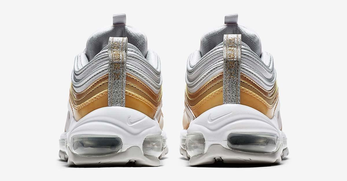 Nike Air Max 97 Sølv Guld AQ4137-001