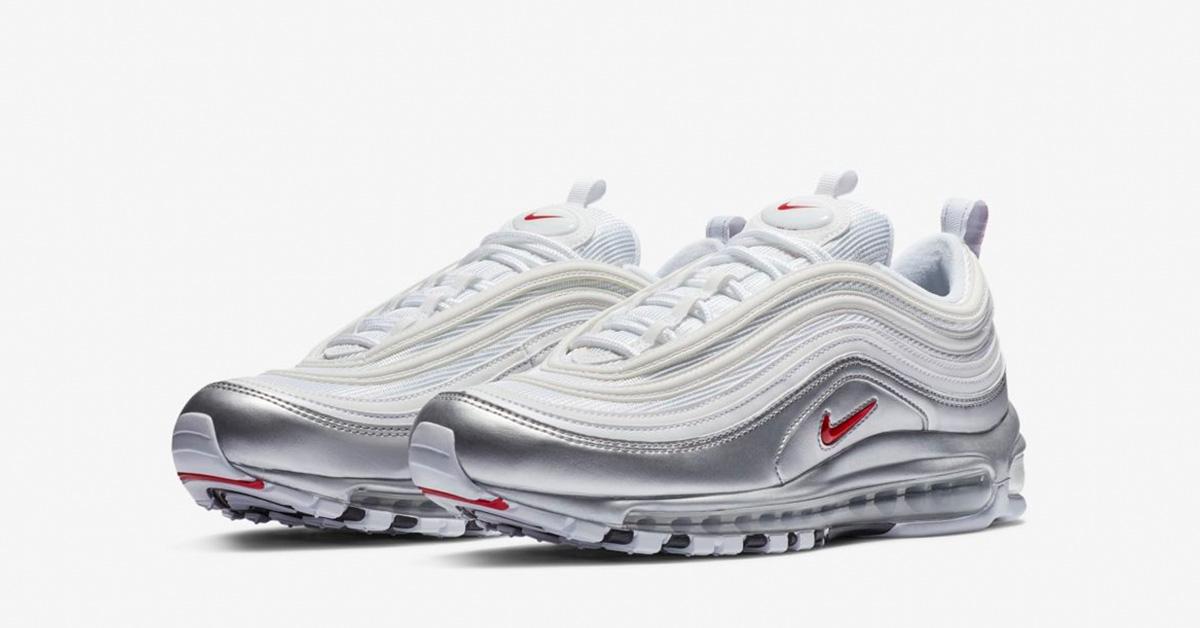 Nike Air Max 97 Sølv Hvid 0