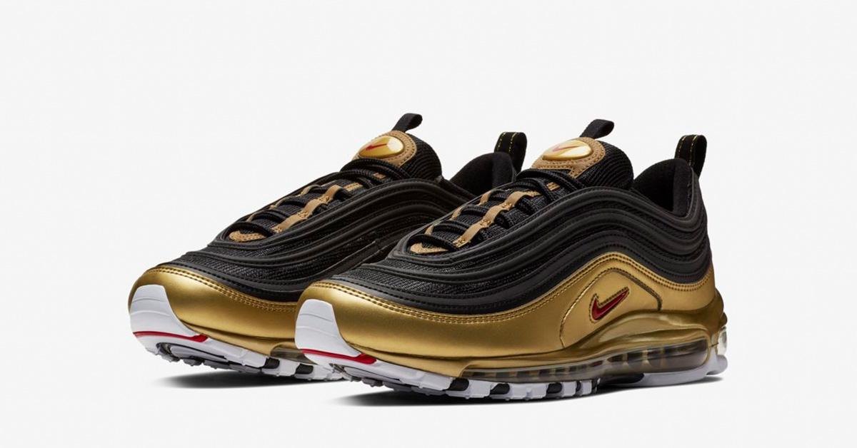 Nike Air Max 97 Sort Guld