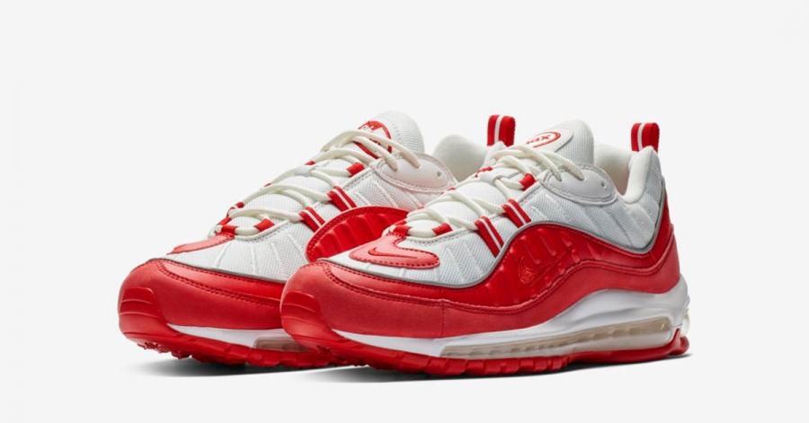 best sneakers ff527 65763 Nike Air Max 98 Rød Hvid