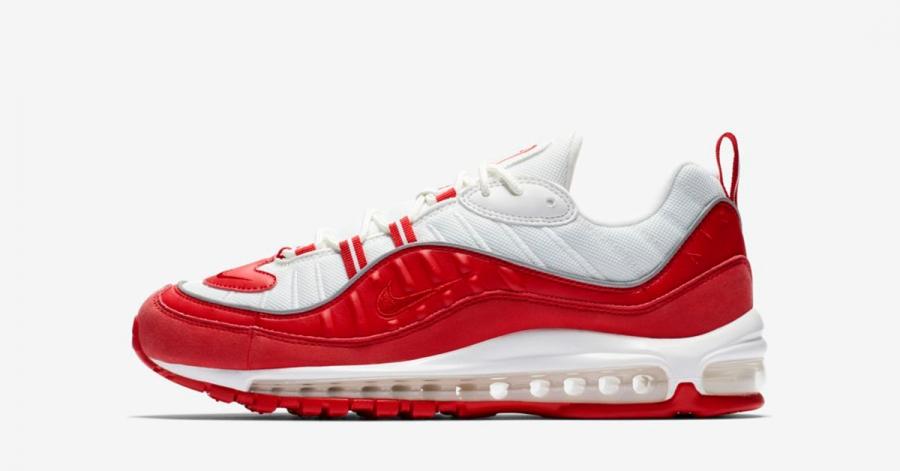 Nike Air Max 98 Rød Hvid