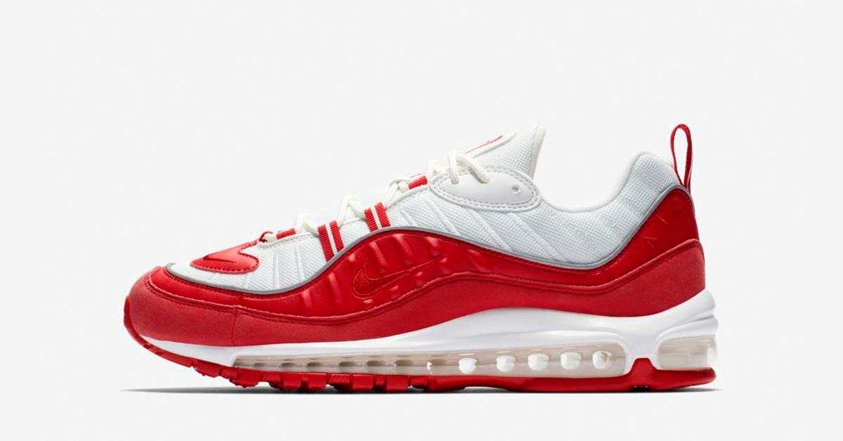 nike air max rød og hvid