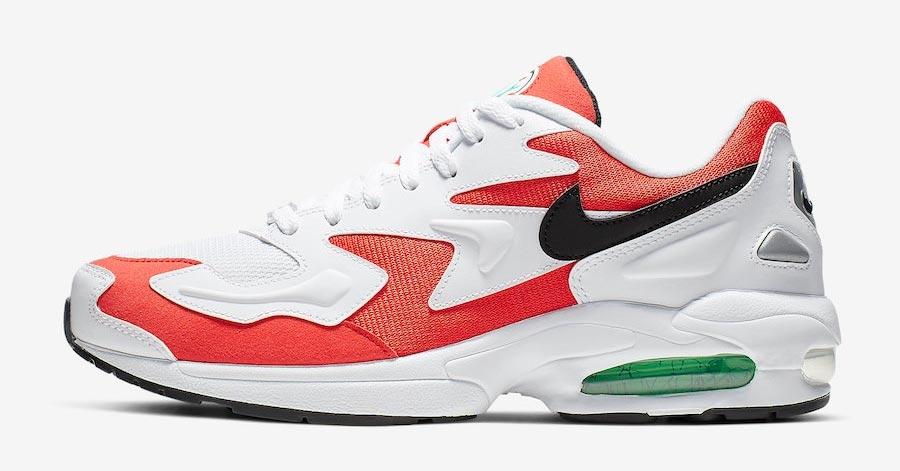 Nike Air Max2 Light Rød Hvid AO1741-101