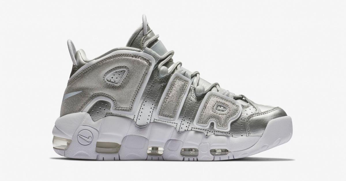Nike Air More Uptempo Metallic Silver til kvinder