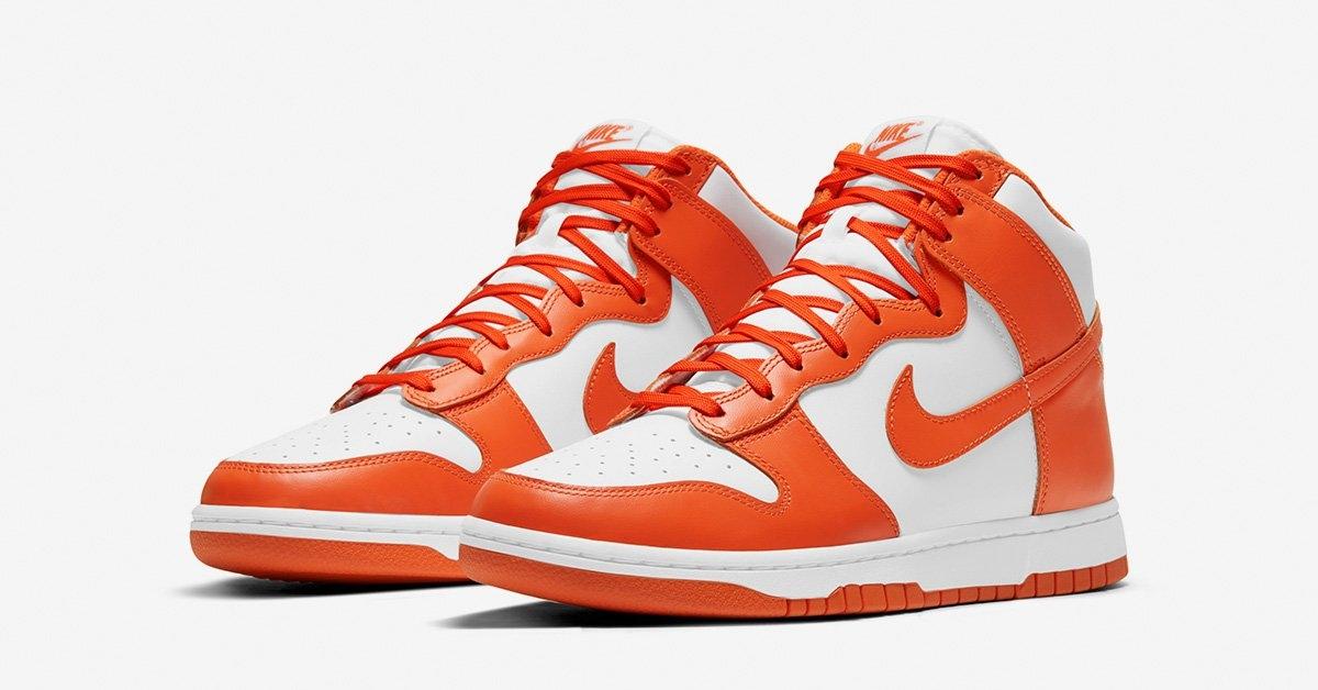 Nike Dunk High Hvid Orange