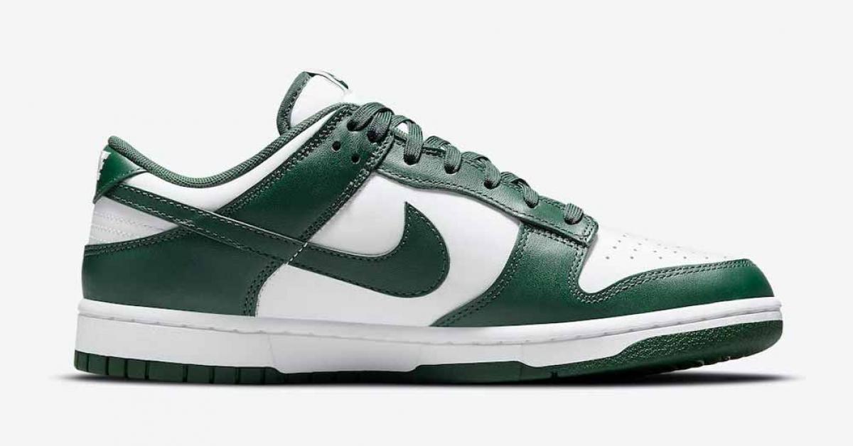 Nike Dunk Low Hvid Grøn DD1391-101