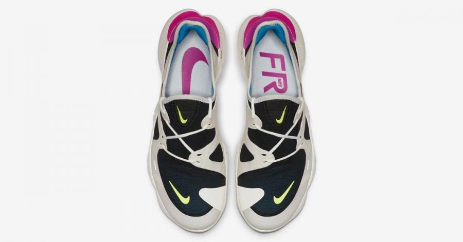 Nike Free Run 5.0 Sort Hvid AQ1316-100