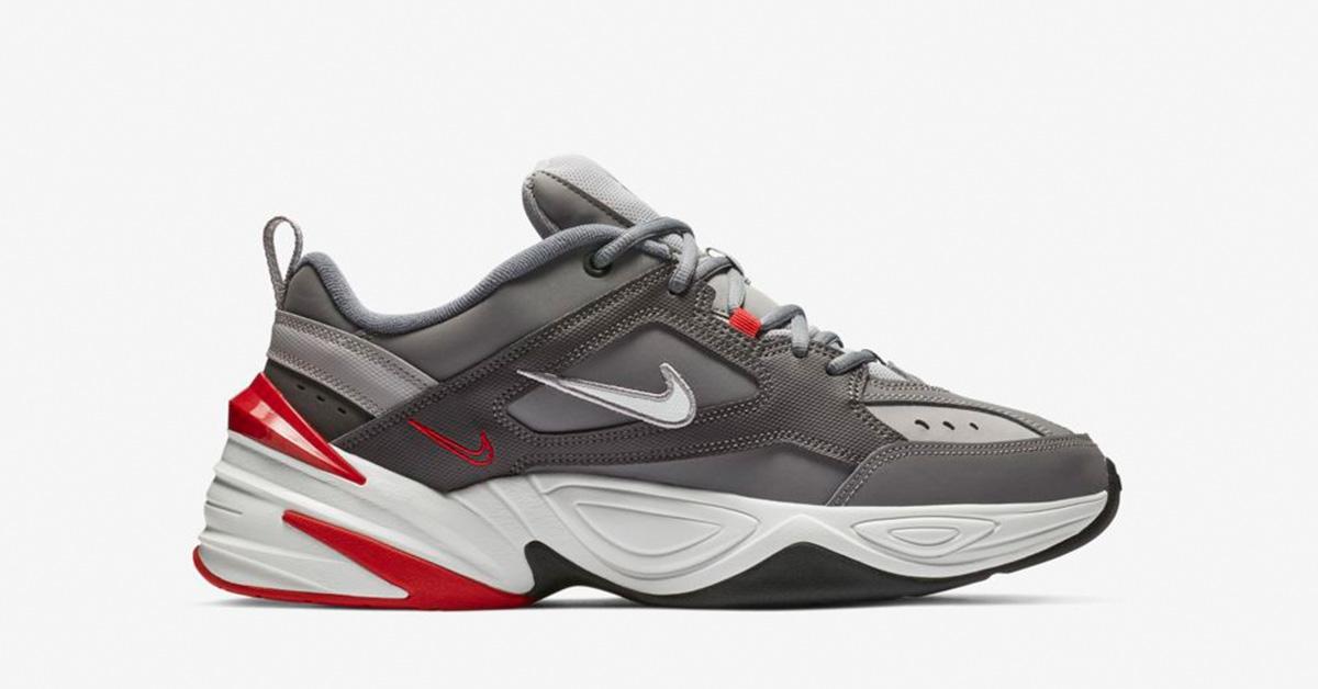 Nike M2K Tekno Grå Rød