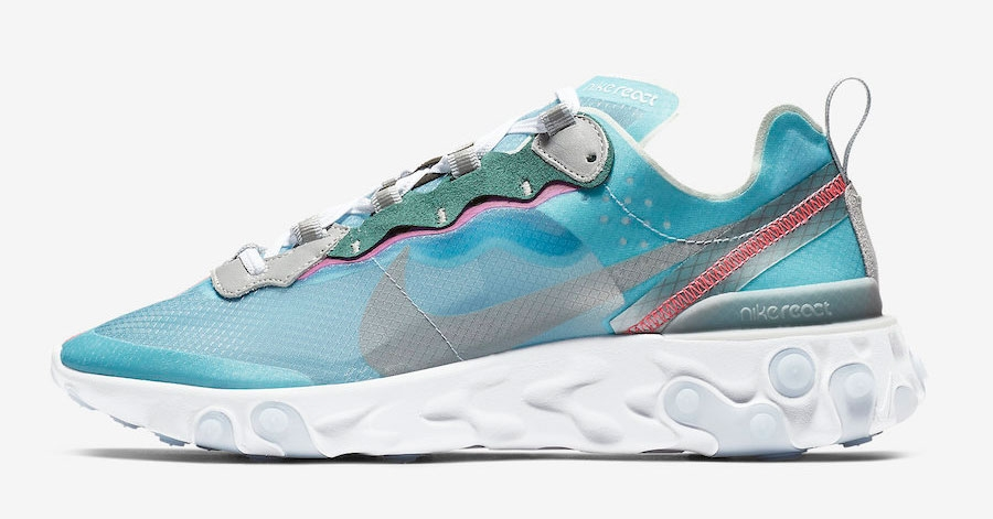 Nike React Element 87 Lyseblå AQ1090-400