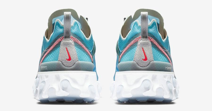 Nike React Element 87 Lyseblå AQ1090-400