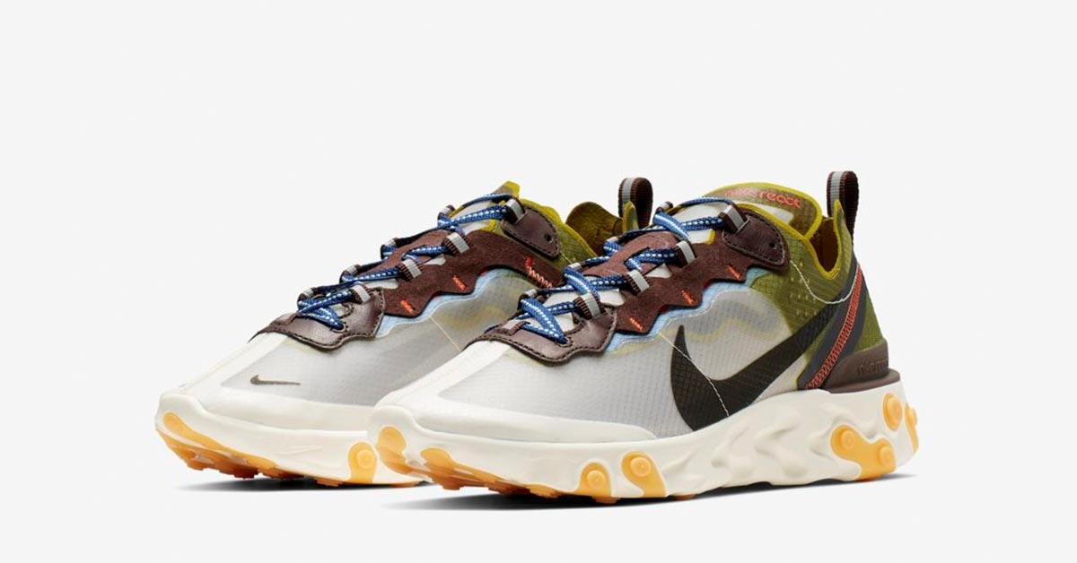 Nike React Element 87 Moss Cool Sneakers