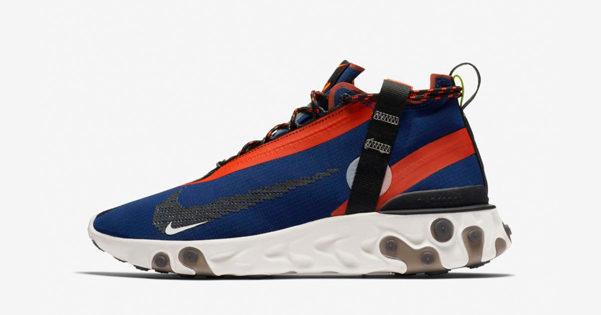 Nike React Runner Mid ISPA Blå Orange