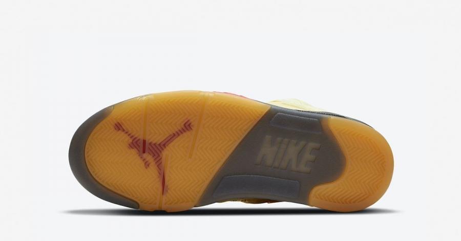 Off-White x Nike Air Jordan 5 Sail DH8565-100