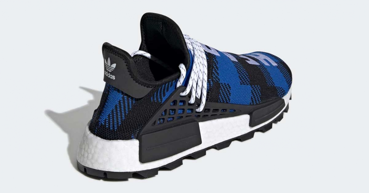 Pharrell Williams BBC x Adidas NMD Hu Blå EF7387